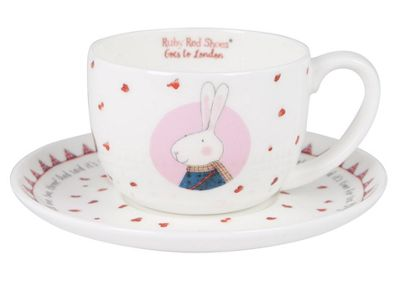 Ruby Red Shoes London Time for Tea Cup and Saucer