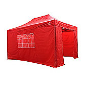All Seasons Gazebos, Heavy Duty, Fully Waterproof, 3m x 4.5m Standard Pop up Gazebo Package in Red