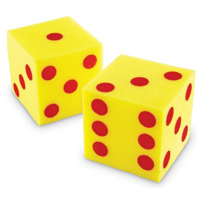 Learning Resources Giant Soft Dots Cubes Dice