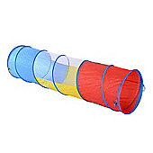 PawHut 3 Colour Tunnel Dog Agility Traning Run Colourful Toy Exercise w/ Carry Bag
