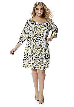 Junarose Floral Print Plus Size Dress - Multi