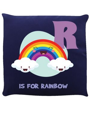 R Is For Rainbow Navy Blue Cushion 40 x 40cm