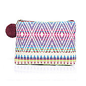 Aztec Pom Pom Small Make Up Bag