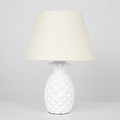 Pineapple 50cm LED Table Lamp - White & Cream
