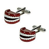 Set of Teeth Novelty Themed Cufflinks