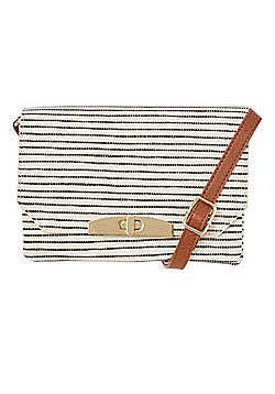 F&F Slim Stripe Cross-Body Bag White One Size