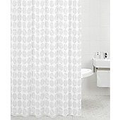 Sabichi Polyester Shower Curtain in Carrara