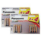 16 x Panasonic AAA Batteries Everyday Power Silver Alkaline LR03