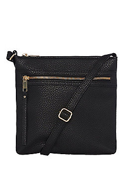 F&F Grained Passport Cross-Body Bag Black One Size