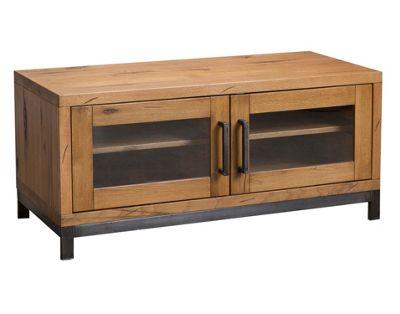 Abbey Industrial Oak TV Unit / Metal and Wood Standard Oak TV Stand