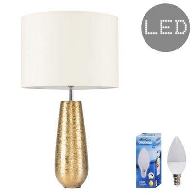 Hastings 65cm Touch Dimmer LED Table Lamp - Gold & Cream