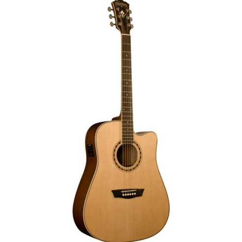Washburn WD10SCE Electro Acoustic Guitar - Natural