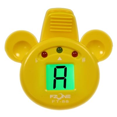 Fzone Mini Chromatic Tuner - Yellow