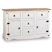 ValuFurniture Corona 2 Door 5 Drawer Sideboard - White