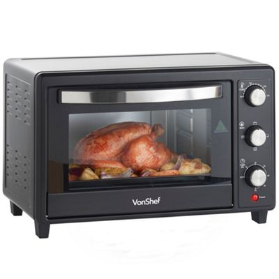nice ovens. VonShef 30 Litre Black Mini Oven Table Top Grill 1600W U0026 Accessories Nice Ovens