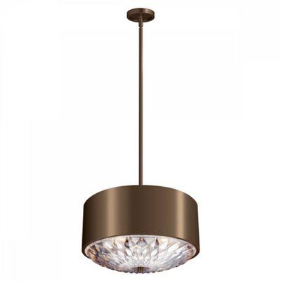 Dark Aged Brass 4lt Pendant - 4 x 60W E27