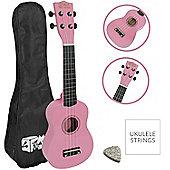 Soprano Ukulele in Pink with FREE Uke Bag