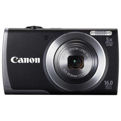 Canon A3500 Digital Camera, Black, 16MP, 5x Optical Zoom, 2.7