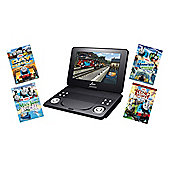 Lava 9 Inch Portable & In-car DVD Player Thomas & Friends Bundle