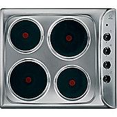 Indesit Electric Solid Plate Hob, PIM 604 (IX), 58cm - Inox