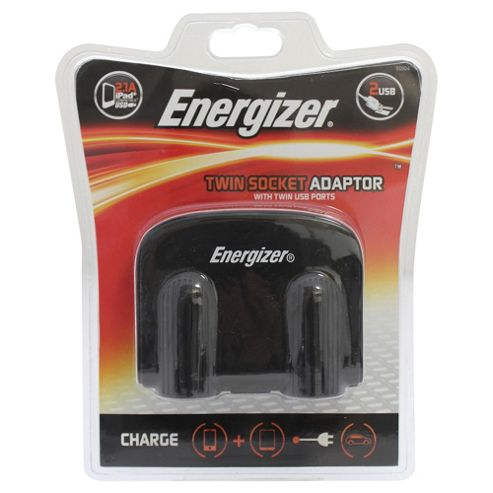 Energizer Twin 12V Socket & Twin USB Adapter