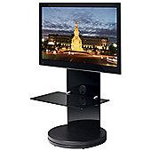 B-Tech BTF810 High Gloss Black Corner Cantilever TV Stand