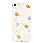 iPhone 7 TPU Painted Effect Daisy Slim Protective Case - Pink