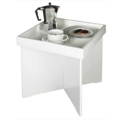 Newlyn Butler Tray Table, White