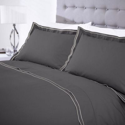 color quilt charcoal grey dark luxury duvet set solid bedding fabric cotton sets cover satin