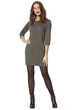 Jacqueline De Yong Murillo Chevron Dress - Grey