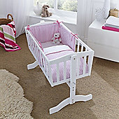 Clair de Lune 2pc Crib Bedding Set (Barley Bebe Pink)