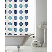 PEVA Shower Curtain Spotted - Blue