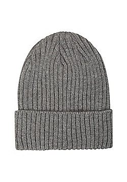 Mountain Warehouse Comfort Thinsulate Beanie w/ Knitted Effect and Double Lined - Grey
