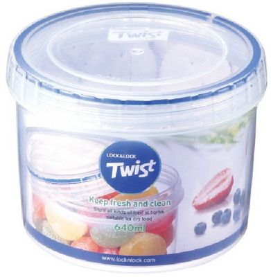 Lock and Lock 640ml Twist Top Container Clear