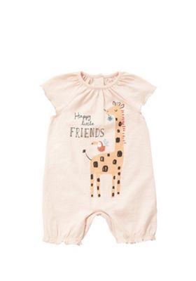 F&F Giraffe Motif Romper Multi 0-1 months