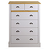 Steens Sandringham 2+4 Drawer Chest Oak/Grey