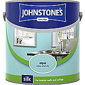 Johnstone's 304094 Vinyl Silk Emulsion - Aqua 2.5 litre