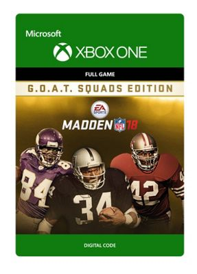 Madden NFL 18 - G.O.A.T. Squads Edition (Digital Download Code)