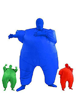 AirSuits Inflatable Fat Chub Suit Second Skin Fancy Dress Party Costume - BLUE