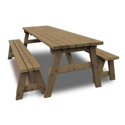 Oakham picnic table and bench set - 6ft