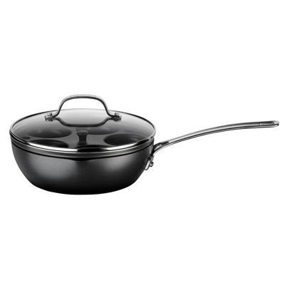 Circulon Hard Anodized 2 in 1 Chef's Pan with Egg Poacher, 25cm