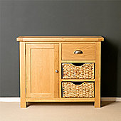 Truro Oak Small Sideboard with Baskets