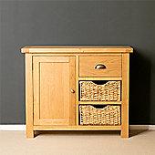 Truro Oak Small Sideboard with Baskets
