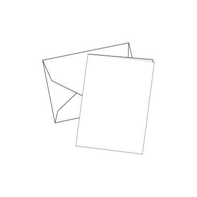 Cards Single Fold Mini White 100 Pk