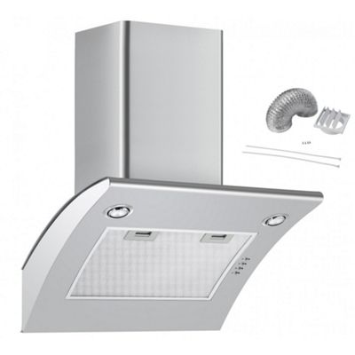 Cookology ARCH600SS 60cm Extractor Fan | Arched Stainless Steel Chimney Cooker Hood & Ducting Kit