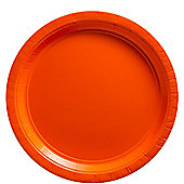 Orange Plates - 23cm Paper Party Plates - 20 Pack