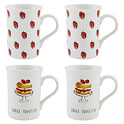 Victoria Sponge Mugs 4pk
