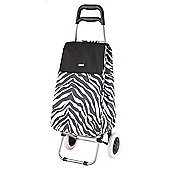 Sabichi 2 Wheel 40L Shopping Trolley, Alfie Zebra Print