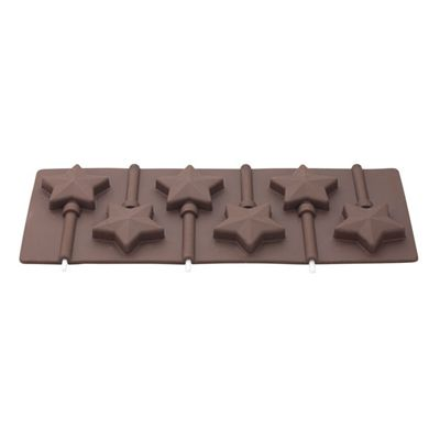 Tala Silicone Chocolate Lolly Star Mould, Makes 6 Pieces