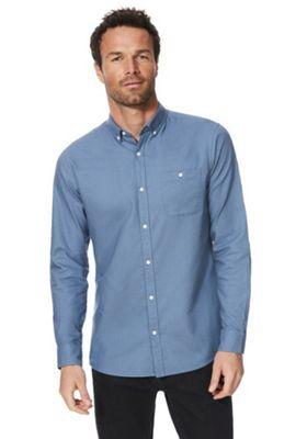 F&F Long Sleeve Oxford Shirt Blue 2XL
